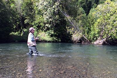 Pesca Deportiva en Aldea Pellu